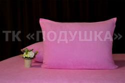 Купить розовые махровые наволочки на молнии в Казани