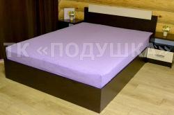 Купить фиолетовую махровую простынь на резинке в Казани
