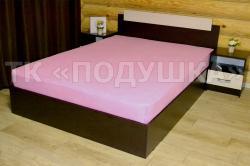 Купить розовую махровую простынь на резинке в Казани